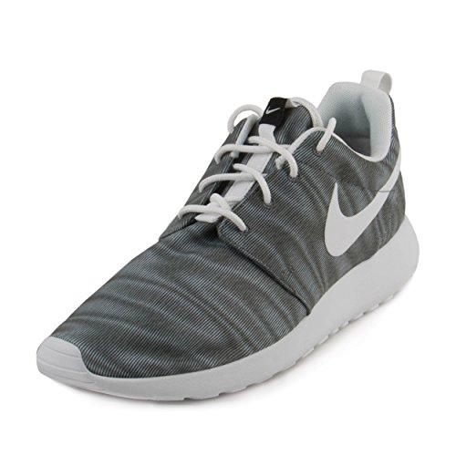 Nike Women's Roshe One Print White/Black/Cool Grey Running Shoe 9 Women US