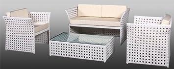 Juego de muebles de jardín de Madrid en blanco muebles