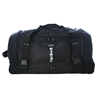 "Olympia Luggage 30"" Rollling Duffle,Black,One Size"