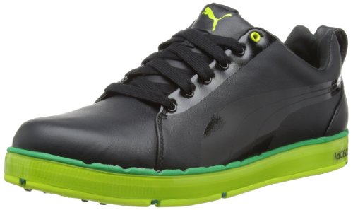 Puma Mens HC Lux Le 186093 Golf Shoes 186093-01 Black/Green 7 UK, 40.5 EU