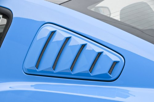 3dCarbon 2010-2012 Mustang Window Louvers (painted: Race Red Clearcoat - PQ) - (pair)