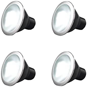 Reon LED GU10 5 Watt Power Spot 50W Replacements, Warm White, Pack of 4