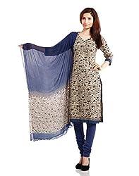 Pinkshink Womens Cotton Unstitched Dress Material (Psk45 _Beige)