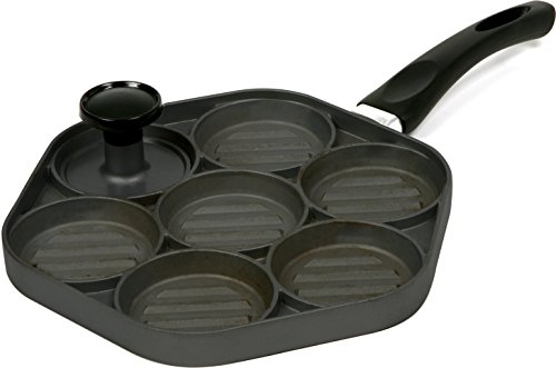 Norpro Nonstick Cast Aluminum Mini Burgers Sliders Grill Pan with Nonstick Press (Slider Pan compare prices)