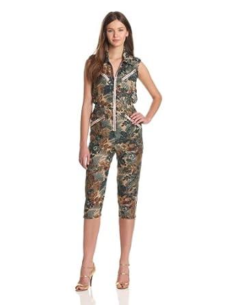 (大牌)Anna Sui安娜苏 Women's 美国制造美女真丝连体裤 Jumpsuit$117.59