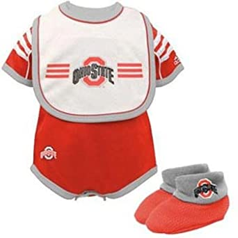 Ohio State Buckeyes Adidas Infant 3 Piece Creeper Set - Toddler (24 Months)