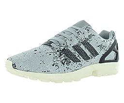 Adidas Zx Flux Weave Men\'s Running Shoes Size US 9, Regular Width, Color Gray/Black