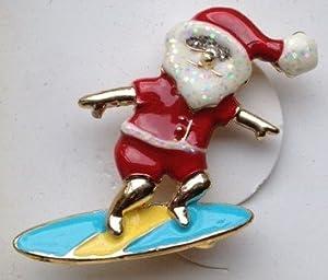 Christmas Pin Surfing Santa Macy's Holiday Lane