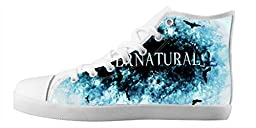Renben Nonslip Supernatural Kids Boy\'s Canvas Shoes Lace-up High-top Sneakers Fashion Running Shoes