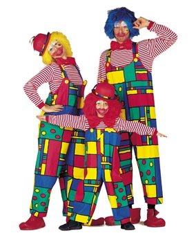 Herren-Kostüm Clown-Latzhose, Gr. 50-52