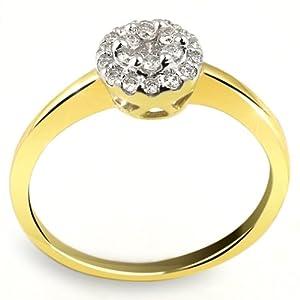 Goldmaid Damen-Ring Glamour 585 Gelbgold 21 Brillanten 0,25ct Pa R3639GG54