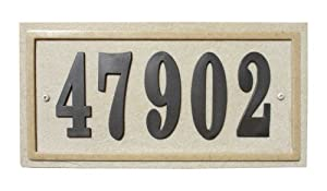 Qualarc RIG-4912 Ridgestone Rectangle Address Plaque System, Sandstone