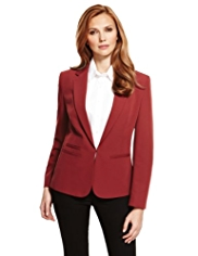 M&S Collection Welt Pockets Cropped Blazer