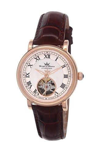 Yonger & Bresson YBD 8524-04 - Orologio da polso donna, pelle, colore: marrone