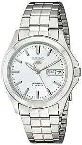 Seiko Men's SNKK87 Two Tone Stainless Steel Analog with White Dial Watch