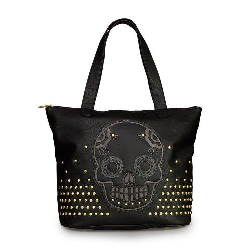 loungefly-nieten-sugar-skull-tote-damen-handtasche
