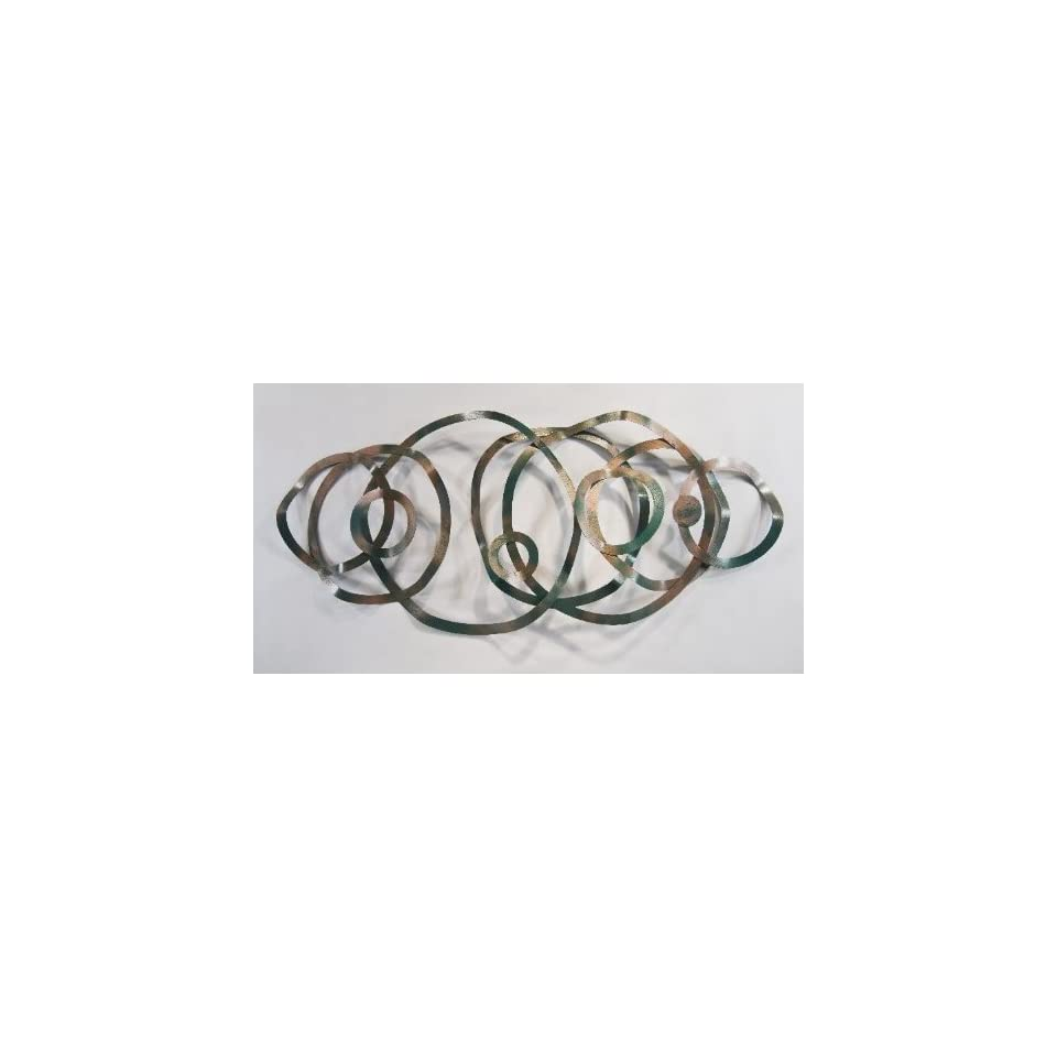 Steel circle metal wall art abstract decor modern design for Circle wall art