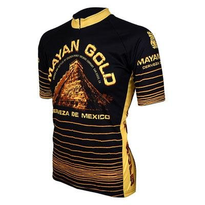 Buy Low Price World Jersey's Mayan Gold Short Sleeve Cycling Jersey (B004MAVVSY)