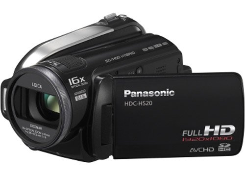 Panasonic HDC-HS20 High Definition Flash Memory Camcorder With 80GB Hard Disc Drive - Black