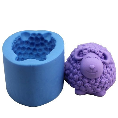 "2.9"" Cartoon Curly Sheep Diy Silicone Soap Making Mold Tray front-59201"