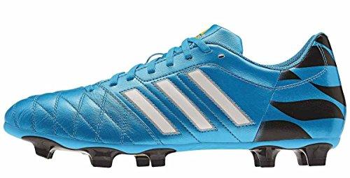 scarpe da calcio ADIDAS 11 QUESTRA FG LEA (46, BLU)