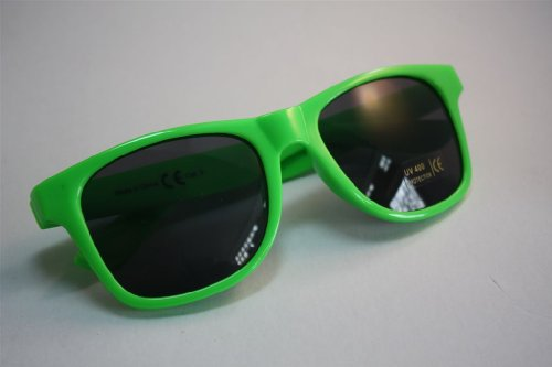 Occhiali da sole Bacardi Razz verde neon Nerd occhiali UV400