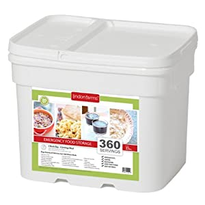 Lindon Farms 360 Serving Breakfast, Lunch dinner Emergency Food Storage by Linden Farms