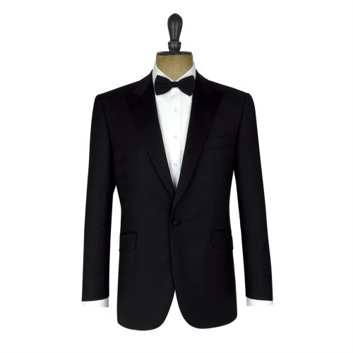 Racing Green Black Twill One Button Dinner Jacket