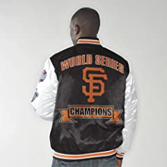San Francisco Giants Up the Gut World Series Champs Commemorative Satin Jacket by G-III Sports