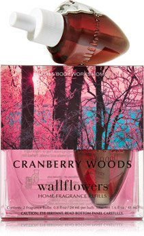 Bath and Body Works Cranberry Woods Wallflower Refills - Twin Pack (2 refill bulbs) (Cranberry Woods compare prices)