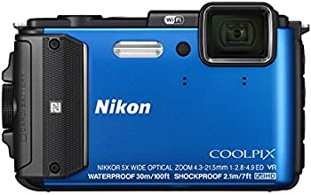NIKON AW130 16.1 Digital Camera with 3.0-Inch TFT LCD (Blue)