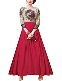 StyleVilla Fashion 2017 New Launching Pink Colour Anarkali Style Special Weadding And Bridal Or Party Wear Salwar...