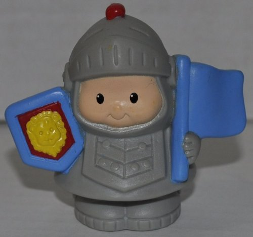 Little People Sir Lance A Little (2003) Knight (VHTF Rare) - Replacement Figure Accessory - Classic Fisher Price Collectible Figures - Loose Out Of Package & Print (OOP) - Zoo Circus Ark Pet Castle - 1