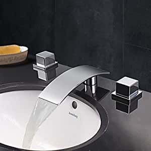 YC Three Piece Faucet Waterfall Basin