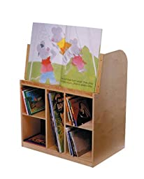 Bird in Hand 271636 Mobile Book Storage Unit, Double-Sided, All-Birch Veneer Panel, 4-Coat UV Acrylic, 36-3/16\