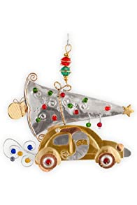 Pilgrim Imports Santa's Bug Metal Fair Trade Ornament