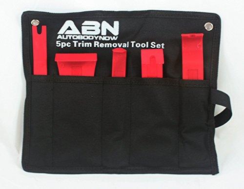 ABN Premium Auto Trim Removal Tool Kit - 5 Piece Pry Bar Set , Fastener Remover -Auto Body Repair Tools - Trim Molding Interior Door Dash Panel Remover (Interior Trim Tool compare prices)