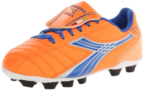 Diadora Soccer Forza MD JR Youth Soccer Shoe ,Orange/Blue,6