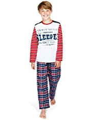 Pure Cotton Sleeper Checked Pyjamas