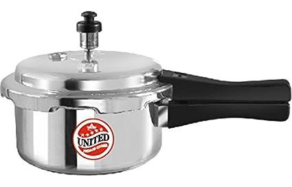 United Elegance Aluminium 2 L Pressure Cooker (Outer Lid)