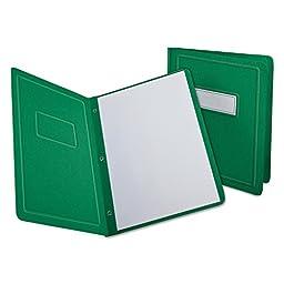 Report Cover, 3 Fasteners, Panel and Border Cover, Dark Blue, 25/Box