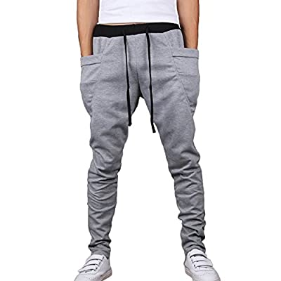 HEMOON Mens Jogging Pants Tracksuit Bottoms Training Running Trousers