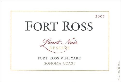 2005 Fort Ross Pinot Noir Reserve, Sonoma Coast 750 Ml