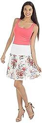 ViaKupia Women's Regular Fit Skirt (07454_M, White, Medium)