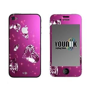 YOUNiiK Styling Skin Designfolie für Apple iPhone 4S (mit Logocut) - PinkPanthers Design Skin