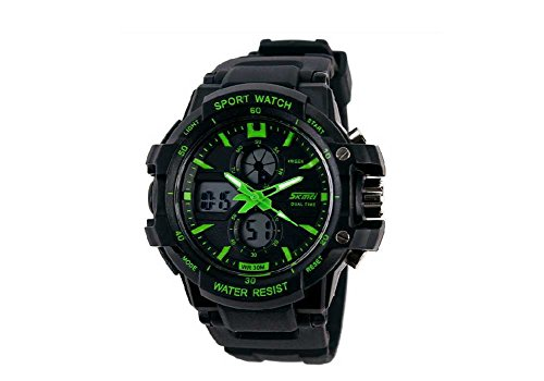 Green Watches For Kids Boys Digital 2 Time Zone Watches Kids Boys