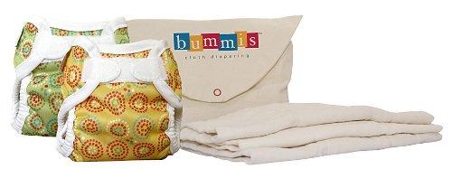 Bummis Cloth Diaper Cover Kit - Hook & Loop - Newborn