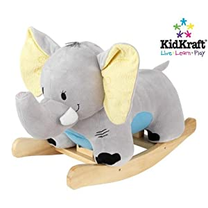 KidKraft Elephant Plush Musical Rocker