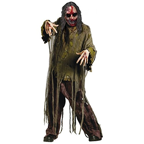 [GSG Bleeding Zombie Costume Adult Halloween Fancy Dress] (Bleeding Dark Zombie Adult Unisex Costumes)