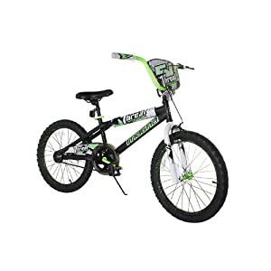 Dynacraft Boy's Magna Threat Bike (Black/Green, 20-Inch)